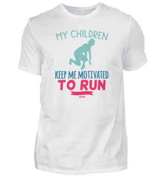 Mother Children Motivation Sport Running