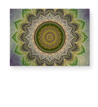 ★ Folklore Lotus Mandala Green Brown II