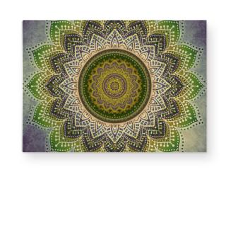 ★ Folklore Lotus Mandala Green Brown II