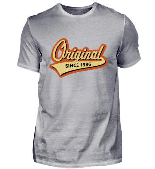 Original Since 1986 (Geburtsjahr, Geburtstag) 3C