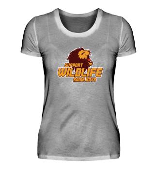 Support Wildlife Raise Boys T-Shirt Gift
