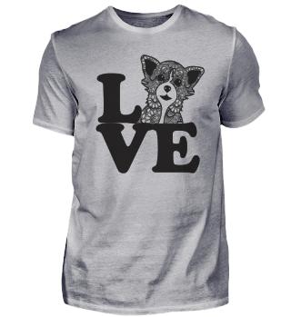 Chihuahua Mandala Love Zeichnung