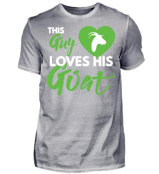 This Guy Loves His Goat - Ziege Geschenk