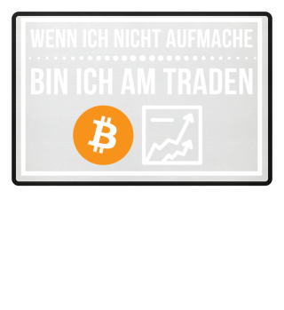 Krypto Trading Fußmatte