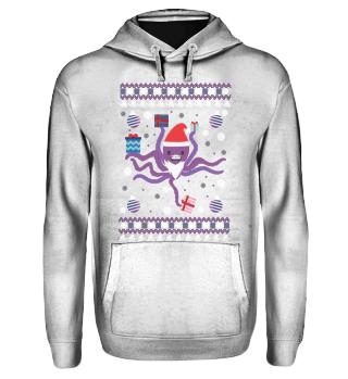 Ugly Christmas Octopus Grab Gift Sealife