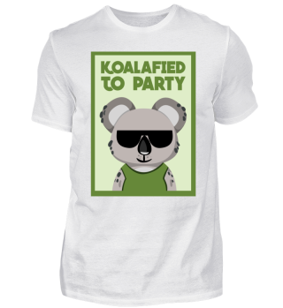 Koalafied To Party Funny Koala Face Pun