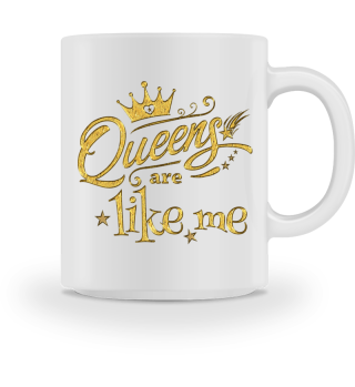 ♥ Queens Are Like Me - gold