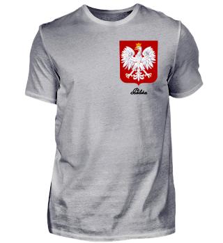 Polen Polska Wappen Adler Brust