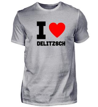 Geschenk Sachsen I Love Delitzsch