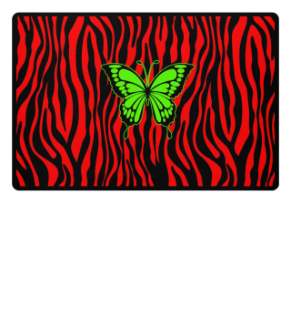 ♥ Butterfly On Zebra Stripes III