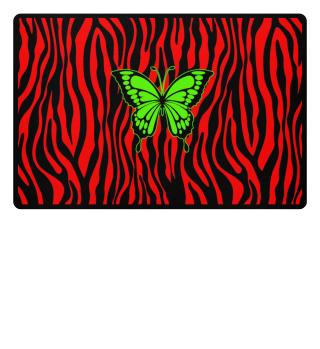 ♥ Butterfly On Zebra Stripes III