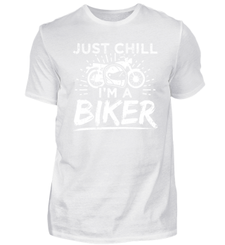 Funny Motorcycle Shirt Just Chill