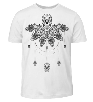 Dotwork Tattoo Skull Mandala 3 ausmalen