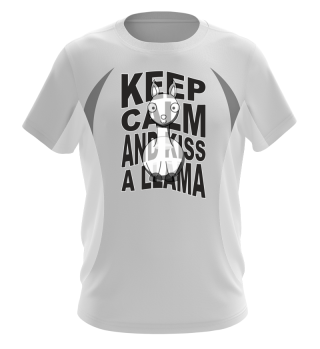 ♥ Funny KEEP CALM And Kiss A Llama