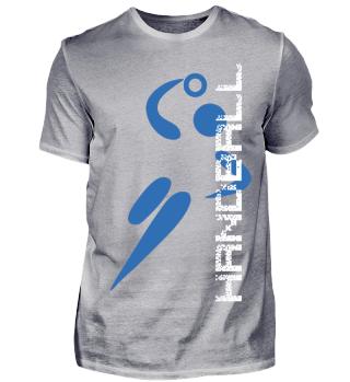Handball Design blau weiß