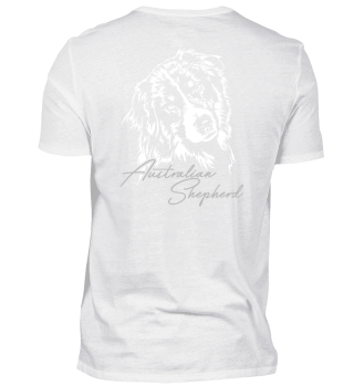 AUSTRALIAN SHEPHERD Hund Backprint