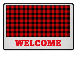 ★ ♥ Lumberjack Fabric Red Black 1