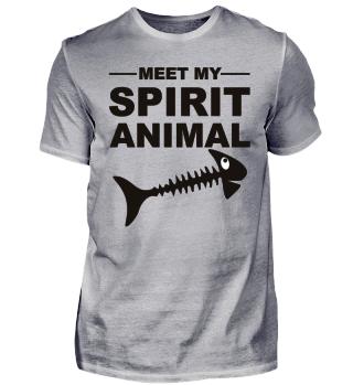 Meet Spirit Animal - Dead Fish - black
