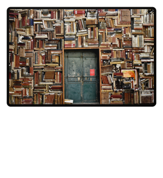 ∞ Photo - Curious WALL of OLD BOOKS
