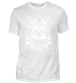 Skull Art Design Rider Rocker Biker Swag