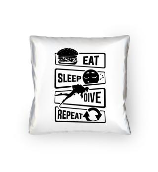 Eat Sleep Dive Repeat - Diver Water