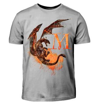 Drachen Buchstabe M (Kinder T-Shirt)