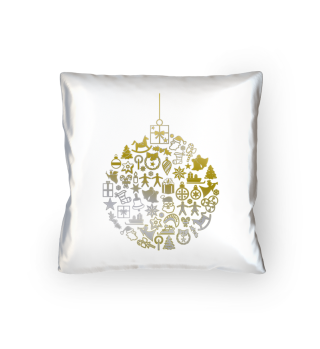 Icons Christmas Tree Ball - gold silver
