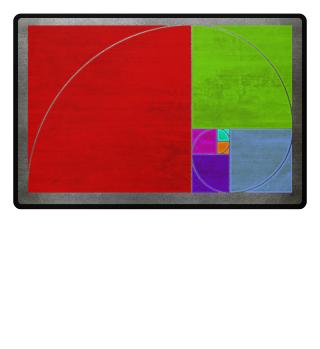 ★ Fibonacci Spiral - colored grunge 2a