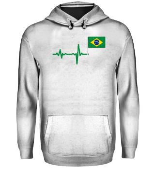 Heartbeat Brazil flag gift