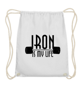 IRON is my life - dumbbells black