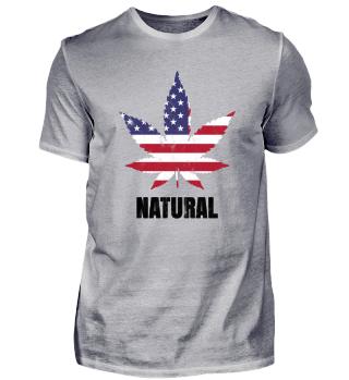 Natural USA Marihuana Gift Shirt