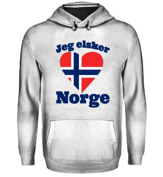 Jeg elsker Norge - Norwegen Fan Hoodie