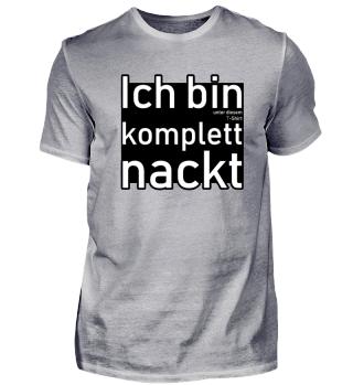 Lustiges Shirt für FKK-Anhänger
