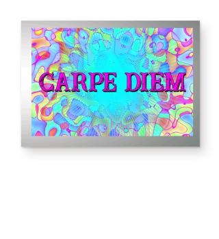 CARPE DIEM - Halftone Star türkis Poster