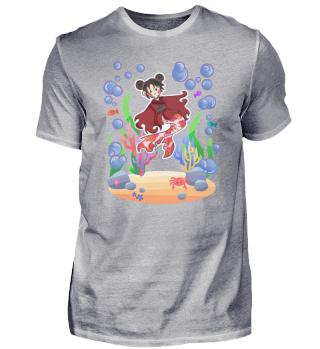 Meerjungfrau Mädchen Manga Wasser Nixe G