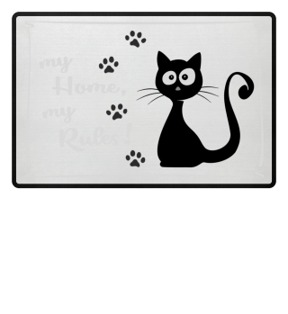 Cat Home and Rules Fussmatte