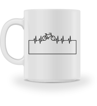 Herzrhythmus Kurve Fahrrad II - schwarz