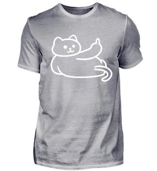 Katze fuck you Shirt geschenk