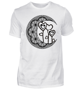 ★ Half Moon Mandala - Love Hearts 1