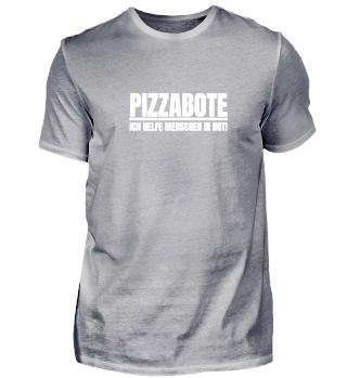 Pizzabote Menschen in Not Lieferdienst