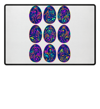 ★ Nine Boho Chic Easter Eggs grungy 1