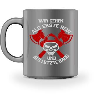 Feuerwehr Tasse - Rein Raus