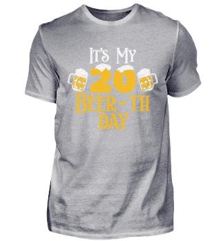 20. Geburtstag 20 Jahre Beer-th Day Bier