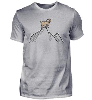 Ziegenbock auf Berg | Wild Ziege Bock