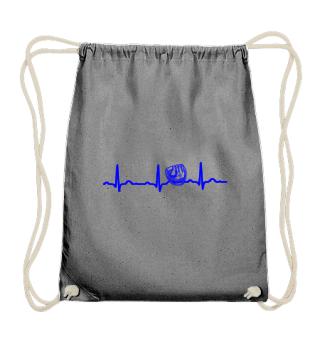 GIFT - ECG HEARTLINE BASEBALL GLOVE BLUE
