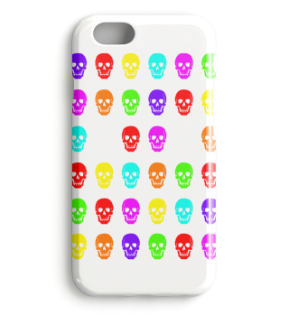 Skulls And Hands - neon colors I phone