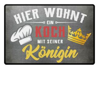 Koch-Fußmatte | HIER WOHNT EIN KOCH (ideales Geschenk)