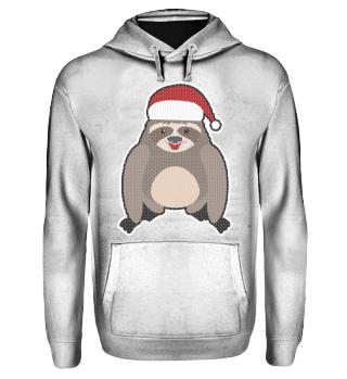 Ugly Christmas Sloth Slothful Lazy Gift