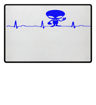 GIFT- ECG HEARTLINE ALIEN BLUE