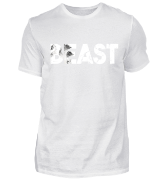 Beast lettering grizzly bear gift idea